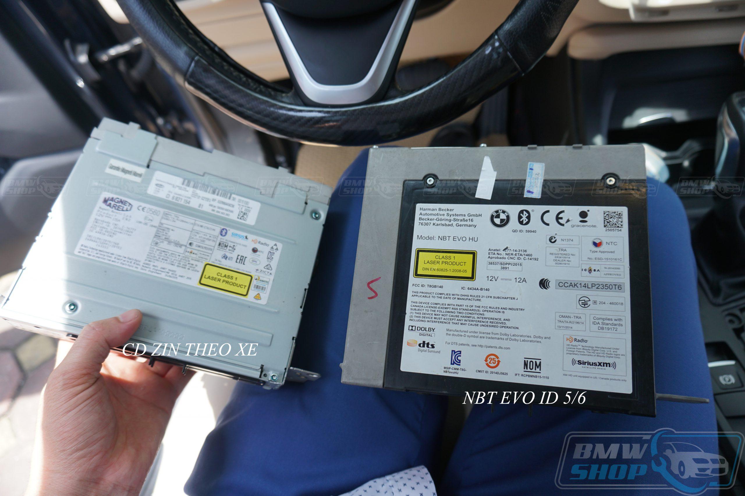 Đầu NBT EVO có độ dày và kích thước lớn hơn so với CD nguyên bản do có thêm ổ cứng